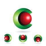 Abstract symbol of letter c Fotografía de archivo libre de regalías
