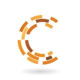 Abstract symbol of letter c Ilustración del Vector