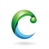 Abstract symbol of letter c Imágenes de archivo libres de regalías