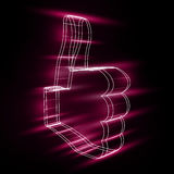 Abstract symbol of LIKE in style 3D Royalty Free Stock Photography