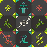 Abstract  symbol set Royalty Free Stock Photos