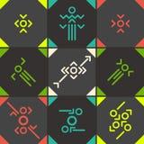 Abstract  symbol set. Set of flat abstract icons Royalty Free Stock Photos