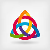 Abstract symbol triquetra in rainbow colors Royalty Free Stock Images