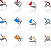 Abstract symbols. Set of symbols. Vector illustration Stock Photography