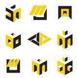 Abstract symbols. Set of abstract symbols on construction topics Stock Photography