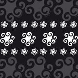 Abstract symbols on black  background Stock Image