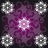 Abstract symbols on black-purple background Royalty Free Stock Photography