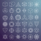 Abstract symbols and elements Royalty Free Stock Photography