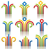 Abstract symbols set. Royalty Free Stock Image