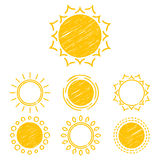Abstract symbols of the sun Royalty Free Stock Images