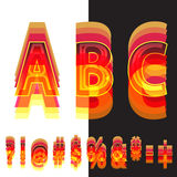 Abstract symbols in warm colors Stock Images