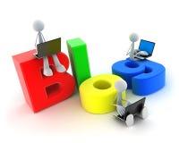 Abstract symbool blog Stock Afbeeldingen