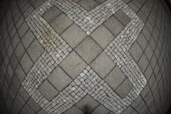 Abstract X-symbool op betontegel Royalty-vrije Stock Fotografie