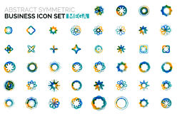 Abstract symmetric business icons Stock Photography