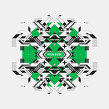 Abstract symmetric design element on green circle Stock Images