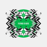 Abstract symmetric design element on green circle Stock Photography
