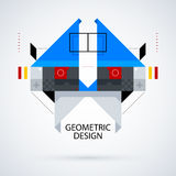 Abstract symmetric design made of geometric shapes. Useful as print, illustration, CD or book cover Royalty Free Stock Photos