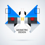 Abstract symmetric design made of geometric shapes. Useful as print, illustration, CD or book cover Royalty Free Stock Photography