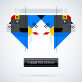 Abstract symmetric design made of geometric shapes. Useful as print, illustration, CD or book cover Stock Photo