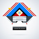Abstract symmetric design made of geometric shapes. Useful as print, illustration, CD or book cover Stock Images