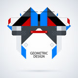 Abstract symmetric design made of geometric shapes. Useful as print, illustration, CD or book cover Royalty Free Stock Image