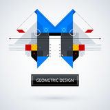 Abstract symmetric design made of geometric shapes. Useful as print, illustration, CD or book cover Royalty Free Stock Images