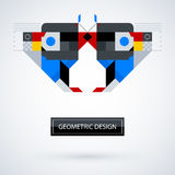Abstract symmetric design made of geometric shapes Stock Images