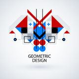 Abstract symmetric design made of geometric shapes Stock Photo