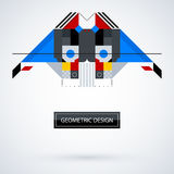 Abstract symmetric design made of geometric shapes Royalty Free Stock Images