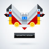 Abstract symmetric design made of geometric shapes. Useful as print, illustration, CD or book cover Stock Photography