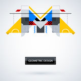 Abstract symmetric design made of geometric shapes. Useful as print, illustration, CD or book cover Stock Photos