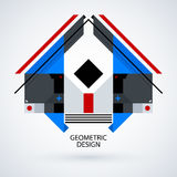 Abstract symmetric design made of geometric shapes Royalty Free Stock Photography