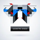 Abstract symmetric design made of geometric shapes Royalty Free Stock Photo
