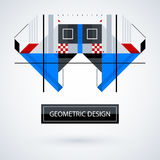 Abstract symmetric design made of geometric shapes Royalty Free Stock Photos