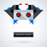 Abstract symmetric design made of geometric shapes Stock Photography
