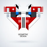 Abstract symmetric design made of geometric shapes Stock Photos