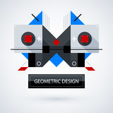 Abstract symmetric design made of geometric shapes Stock Image