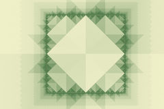 Abstract symmetric pattern with squares and triangles Stock Images