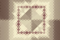 Abstract symmetric pattern with squares and triangles Royalty Free Stock Photography