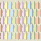 Abstract symmetric texture. Pastel colorful leaves on a beige, design element Royalty Free Stock Photo
