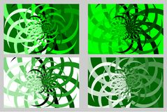 Abstract symmetrical background. Abstract symmetrical green and white background - vector pattern, Abstract leaves - vector background Royalty Free Stock Images