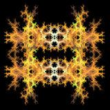 Abstract  symmetrical fractal background. Abstract  yellow and orange symmetrical fractal background Royalty Free Stock Image