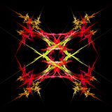 Abstract  symmetrical fractal background. Abstract  symmetrical red and yellow fractal background Royalty Free Stock Photos