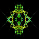 Abstract  symmetrical fractal background. Abstract  yellow and green symmetrical fractal background Royalty Free Stock Images