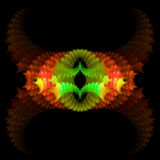 Abstract  symmetrical fractal background. Abstract  red and green symmetrical fractal background Royalty Free Stock Image