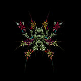 Abstract  symmetrical fractal background. Abstract floral symmetrical fractal background Royalty Free Stock Images