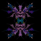 Abstract  symmetrical fractal background. Abstract floral, symmetrical fractal background Stock Image