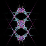 Abstract  symmetrical fractal background. Abstract  purple and blue symmetrical fractal background Royalty Free Stock Image