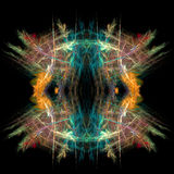 Abstract  symmetrical fractal background. Abstract  symmetrical blue and orange fractal background Royalty Free Stock Photography