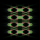 Abstract  symmetrical fractal background. Abstract green and pink  symmetrical fractal background Royalty Free Stock Images